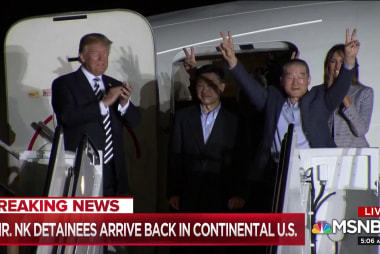 Three Americans released from North Korea back in US