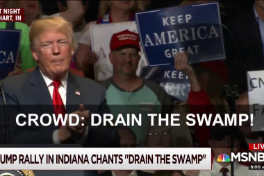 Joe: 'Drain the swamp' chants came during swampy day