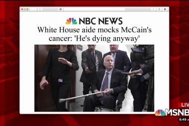 Joe on aide mocking McCain: Trump sets tone in WH