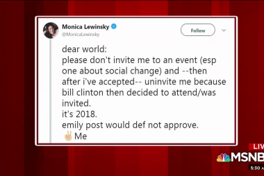 Mika: Hypocritical if Lewinsky uninvited from event