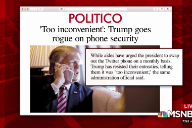 The president is using a phone not fully secured: report