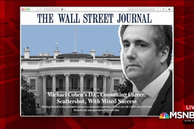 Cohen attempts to profit from Trump had mixed results: WSJ