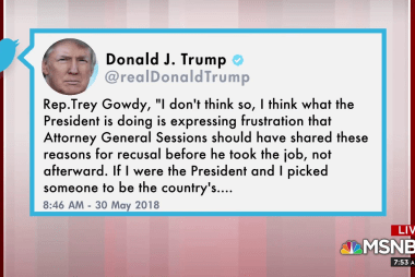 Trump tweets: 'I wish I did' pick another AG