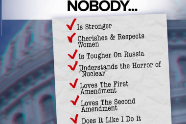 'Nobody' does it like Trump