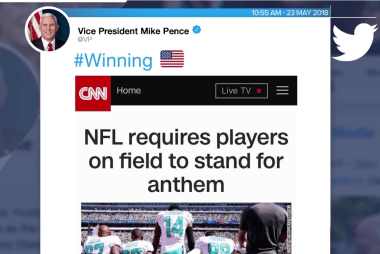 #winning? NFL, White House pick a side on kneeling during the anthem