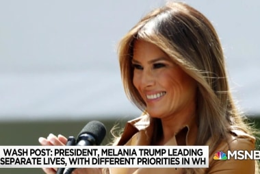 """Melania rolls out """"Be Best"""" campaign with Trump by her side"""