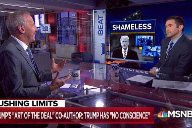 Trump co-author: 'Sociopathic' Trump has 'no conscience'