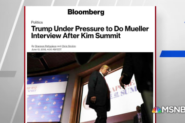 Bloomberg: Mueller pressuring Trump on decision for interview