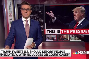 Trump tweets for immediate deportation, no due process
