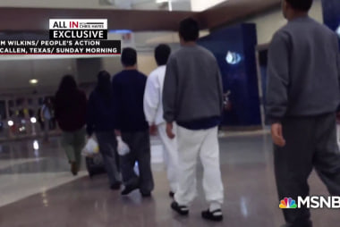 Detained migrant teens marched through airport