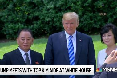 Trump hosts N Korean master spy, cyber army leader in Oval Office