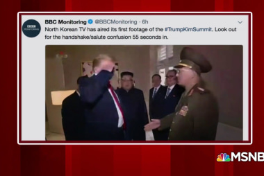 Trump salutes North Korean officer: BBC Twitter account