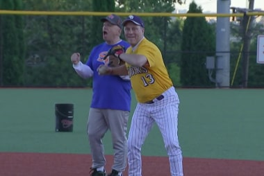 A year after shooting, Rep. Scalise back on the field