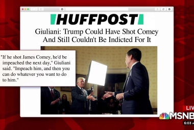 Giuliani indicates Trump could have shot Comey, not be indicted