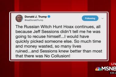 Trump blames Jeff Sessions for Russia probe