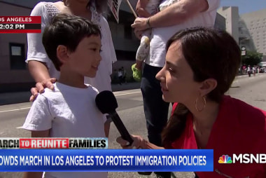 5-year-old protester's message to President Trump