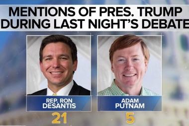 The big question in Florida's Republican gubernatorial debate: Who's Trumpier?