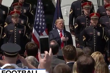 """Trump hit with criticism over """"Celebration of America"""" without Eagles"""