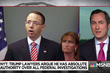 Is Rod Rosenstein the real target in Trump legal team's memo?
