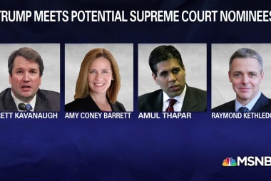 Trump meets 4 potential SCOTUS nominees