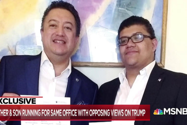 Father & Son with opposing views on Trump run for the same office