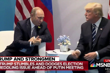 Trump slams Clinton emails in response to Russian meddling question