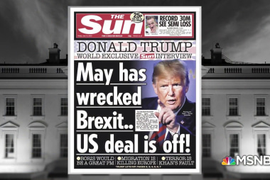 Trump trashes UK PM's Brexit plan & then meets her for dinner