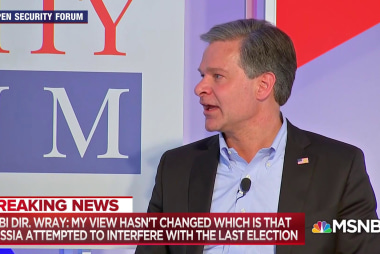 FBI Director Wray: Russia continues to interfere