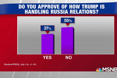 Poll: 37% approve of Trump's handling of Russia