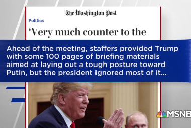 WaPo: Trump ignored briefing laying out tough stance against Putin