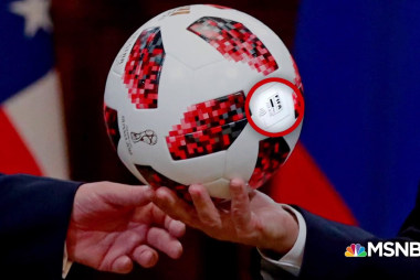 Soccer ball from Putin had an electronic chip