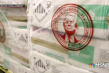 Trump loves asbestos so much his face is being used to sell it
