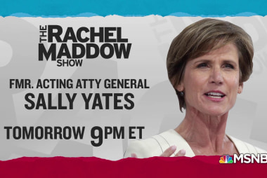 Programming note! Sally Yates on TRMS Thursday, 9pm ET!