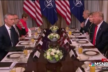 Trump practices 'diplomatic malpractice' at NATO breakfast