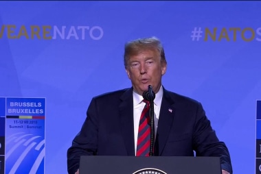 Trump creates his own narrative at press conference