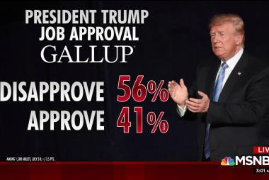 Trump's job approval falls in latest poll