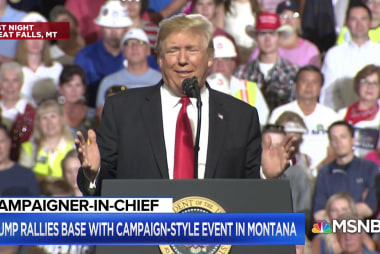 President Trump holds raucous rally in Montana