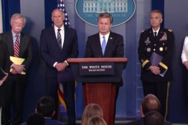 White House warns about Russia then Trump says it's a hoax!