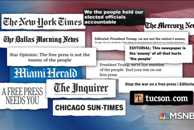 Trump goes after press, as 400 newspapers denounce rhetoric