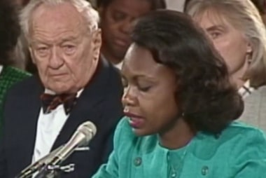 What hasn't changed since Anita Hill