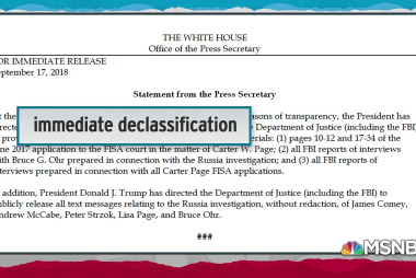 Trump suspected of using declassifications to force DoJ turnover