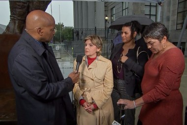 Gloria Allred reacts after Cosby sentenced to 3 to 10 years in prison