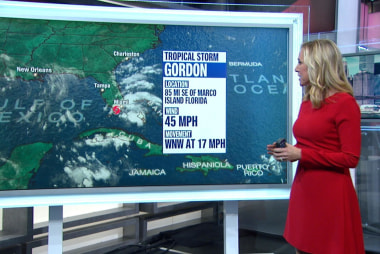 Tropical Storm Gordon forms over south Florida, prompts multi-state warnings