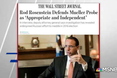 WSJ: Rosenstein defends Mueller probe as 'appropriate and independent'