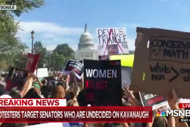 Women rush to Washington to make objections to Kavanaugh heard