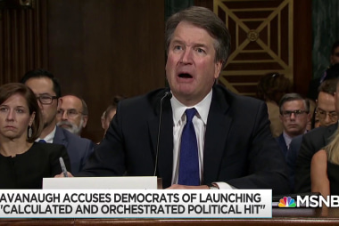 Kavanaugh takes partisan vendetta to high court with lifetime job