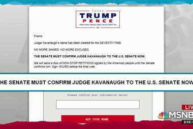 Trump campaign demands Kavanaugh confirmation... to the Senate??