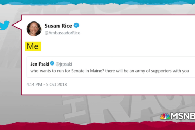 Susan Rice raises specter of challenging Susan Collins in 2020