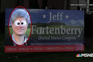 """Fartenberry"" yard sign prank causes quite a stir"