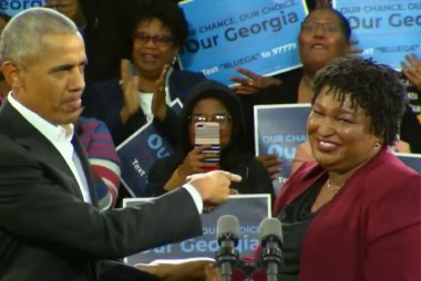 Obama stumps for Stacey Abrams in Georgia